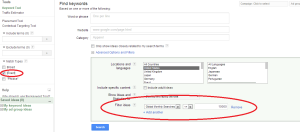 My Google AdWords Keyword Tool Setup