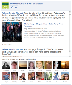 An Example of Facebook Widget Embedded With a Website