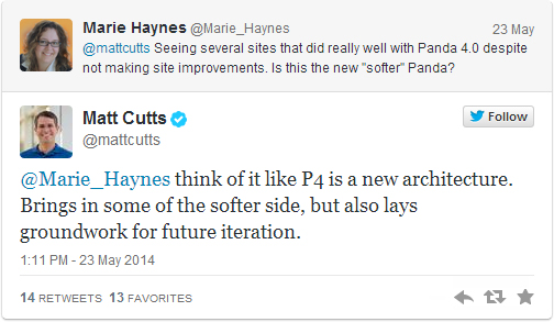 Matt Cutts Explains Panda 4.0 in a Twitter Tweet