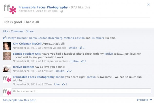 Simple, to-the-point and effective. This is how your Fan Page posts should look.