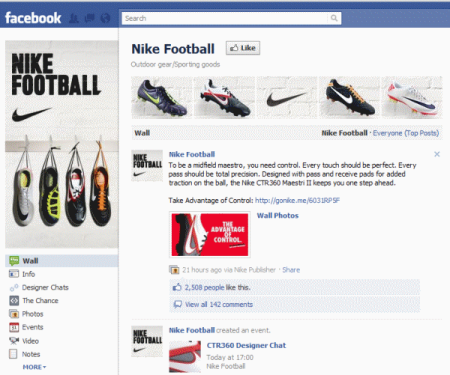 Nike Football's completed Fan Page gives Fans everything they need to know and then some.